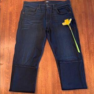 Paige Dark Rinse Lennox Skinny Jeans, Size 29